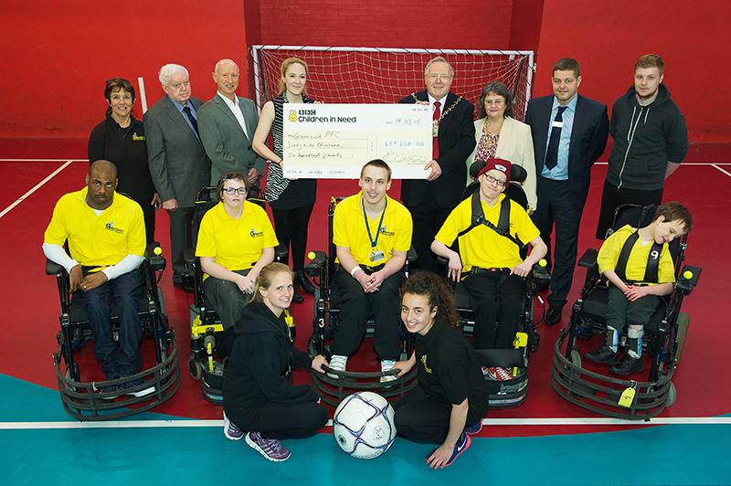 Sharon Brokenshire (SLSL), John Fahy, (Deputy Leader RBG) Steve Johnston (SLSL), Ruth Mc Dermott, (Officer, BBC CIN) Mick Hayes,(Mayor of Royal Greenwich) Gill Hayes (Mayoress), Sam Wright (Waterfront Leisure Centre general manager), Joe Sheehan (SLSL-assistant coach) Liam Prospere (player)  Emily Campbell (player)  Kieran Gibbons (Player)  Shea French Gibbens (Player)   David Gale (Player), Rhea Daly (SLSL-Head Coach)                             Jessica Landeryou (SLSL-Assistant Coach)